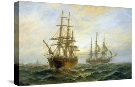 Frigate Outward Bound off Shoeburyness-Claude T^ Stanfield Moore-Stretched Canvas Print