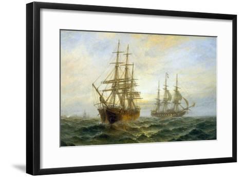 Frigate Outward Bound off Shoeburyness-Claude T^ Stanfield Moore-Framed Art Print