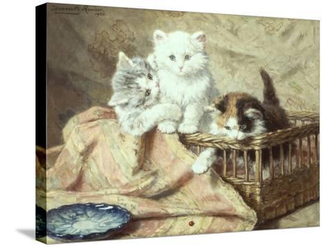 Playmates-Henriette Ronner-Knip-Stretched Canvas Print