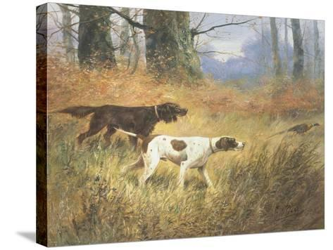 Pointers in a Landscape-Eugene Petit-Stretched Canvas Print