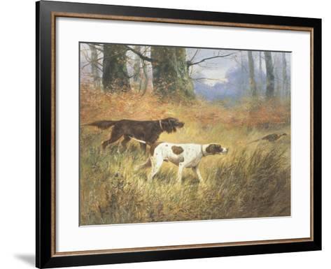 Pointers in a Landscape-Eugene Petit-Framed Art Print
