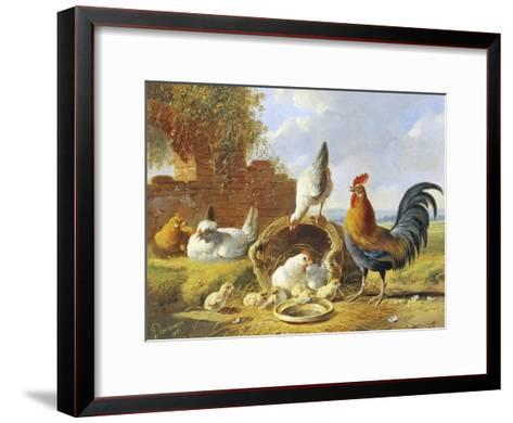 Spring Chickens-Albertus Verhosen-Framed Art Print