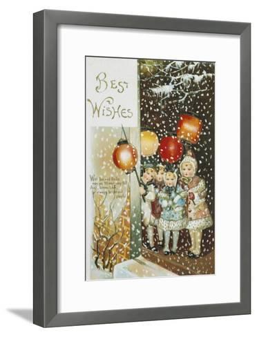 Christmas Lanterns--Framed Art Print