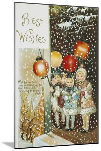 Christmas Lanterns--Mounted Giclee Print