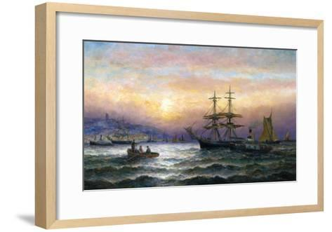 Shipping in the Mouth of the Medway, Evening-Charles Thorneley-Framed Art Print