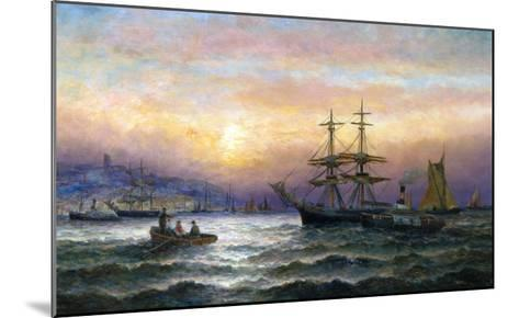 Shipping in the Mouth of the Medway, Evening-Charles Thorneley-Mounted Giclee Print