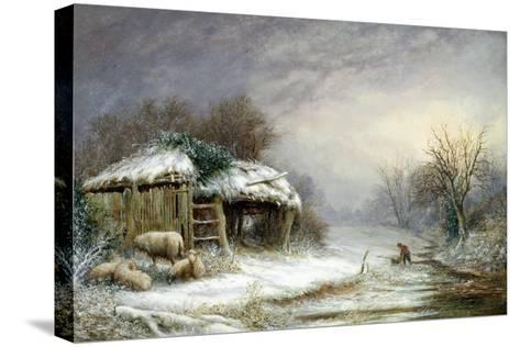 Winter Landscape-Joseph Such-Stretched Canvas Print