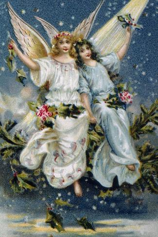 Heavenly Angels--Stretched Canvas Print