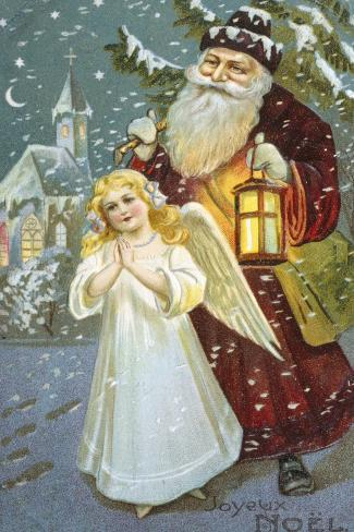 Christmas Angel--Stretched Canvas Print