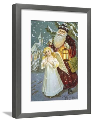 Christmas Angel--Framed Art Print