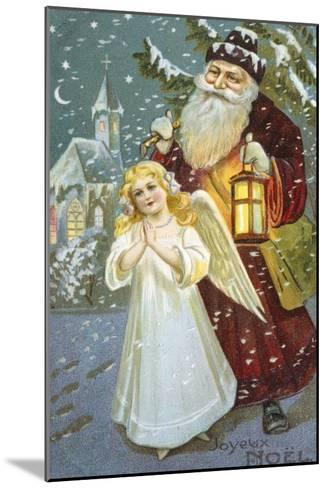 Christmas Angel--Mounted Giclee Print