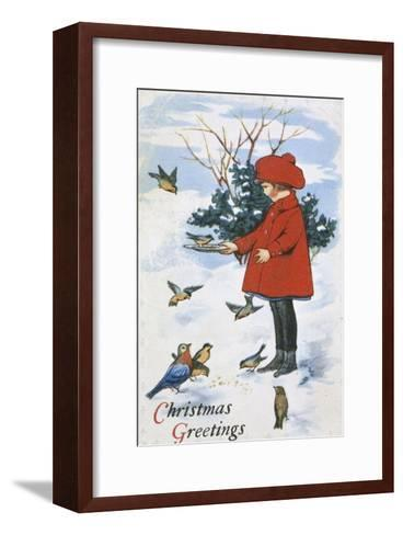 Christmas Greetings--Framed Art Print