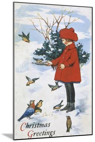 Christmas Greetings--Mounted Giclee Print