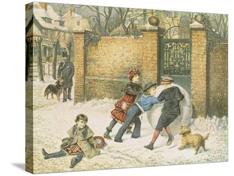 Giant Snowball-William Weekes-Stretched Canvas Print