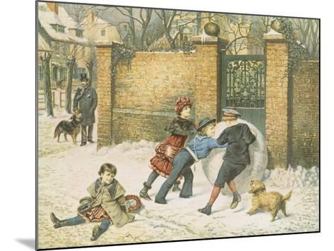 Giant Snowball-William Weekes-Mounted Giclee Print