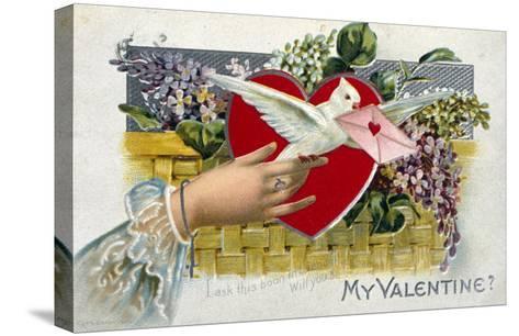 My Valentine--Stretched Canvas Print