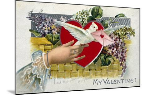 My Valentine--Mounted Giclee Print