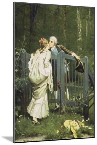 The Kiss-Auguste Serrure-Mounted Giclee Print
