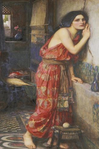Thisbe or The Listener, c.1909-John William Waterhouse-Stretched Canvas Print
