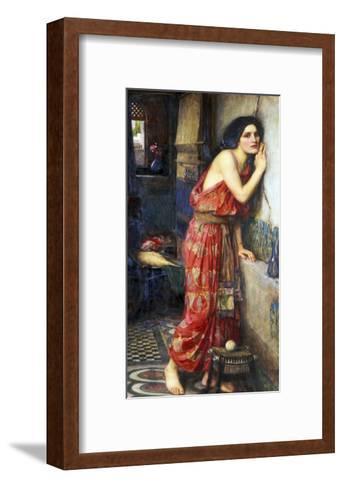 Thisbe or The Listener, c.1909-John William Waterhouse-Framed Art Print