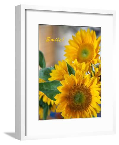 Smile: Sunny Sunflower-Nicole Katano-Framed Art Print
