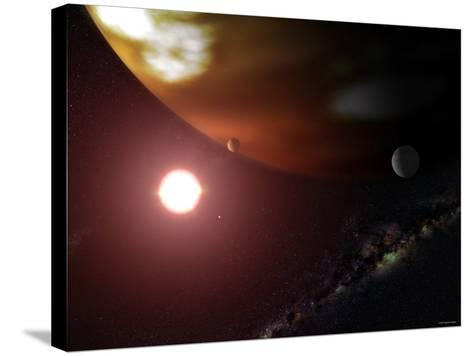 Gas Giant Planet Orbiting the Cool, Red Dwarf Star Gliese 876-Stocktrek Images-Stretched Canvas Print