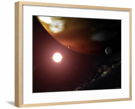 Gas Giant Planet Orbiting the Cool, Red Dwarf Star Gliese 876-Stocktrek Images-Framed Art Print