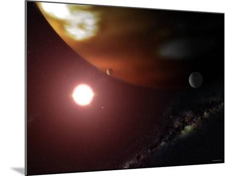 Gas Giant Planet Orbiting the Cool, Red Dwarf Star Gliese 876-Stocktrek Images-Mounted Photographic Print