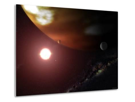 Gas Giant Planet Orbiting the Cool, Red Dwarf Star Gliese 876-Stocktrek Images-Metal Print