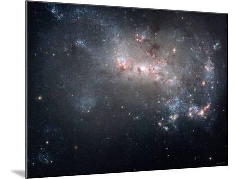 Magellanic Dwarf Irregular Galaxy NGC 4449 in the Constellation Canes Venatici-Stocktrek Images-Mounted Photographic Print