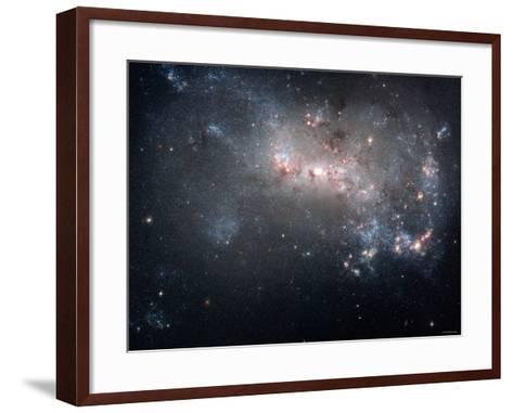 Magellanic Dwarf Irregular Galaxy NGC 4449 in the Constellation Canes Venatici-Stocktrek Images-Framed Art Print