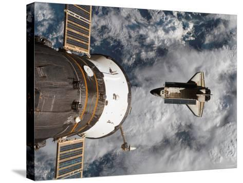 Space Shuttle Atlantis After It Undocked from the International Space Station on June 19, 2007-Stocktrek Images-Stretched Canvas Print