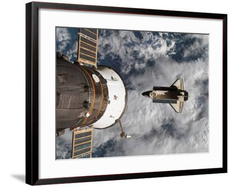 Space Shuttle Atlantis After It Undocked from the International Space Station on June 19, 2007-Stocktrek Images-Framed Art Print
