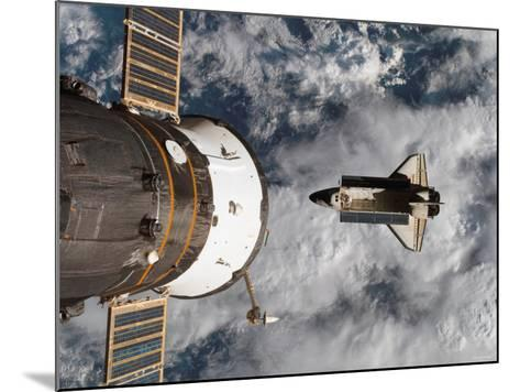 Space Shuttle Atlantis After It Undocked from the International Space Station on June 19, 2007-Stocktrek Images-Mounted Photographic Print