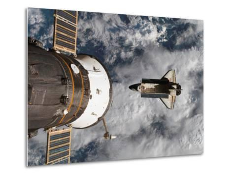 Space Shuttle Atlantis After It Undocked from the International Space Station on June 19, 2007-Stocktrek Images-Metal Print