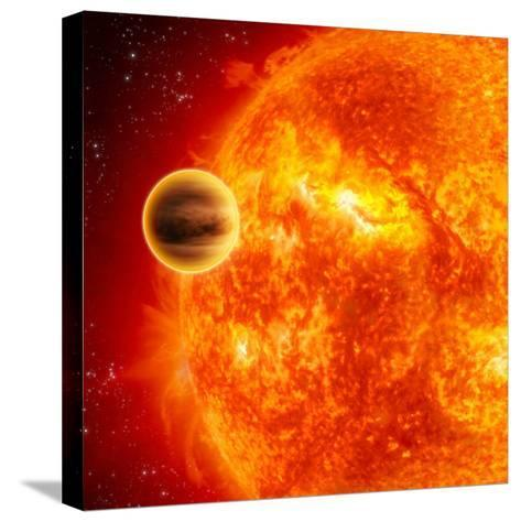 Gas-Giant Exoplanet Transiting Across the Face of Its Star-Stocktrek Images-Stretched Canvas Print