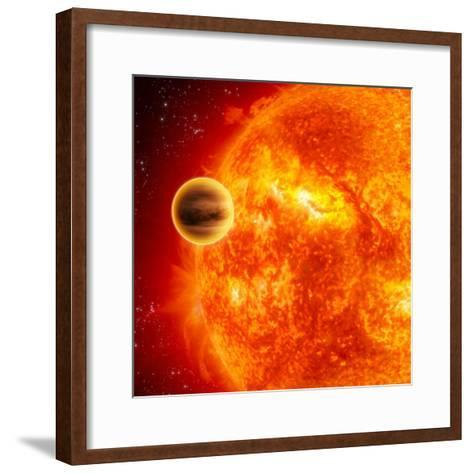 Gas-Giant Exoplanet Transiting Across the Face of Its Star-Stocktrek Images-Framed Art Print