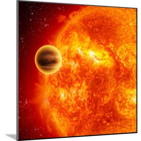 Gas-Giant Exoplanet Transiting Across the Face of Its Star-Stocktrek Images-Mounted Photographic Print