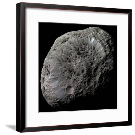 False-Color View of Saturn's Moon Hyperion-Stocktrek Images-Framed Art Print