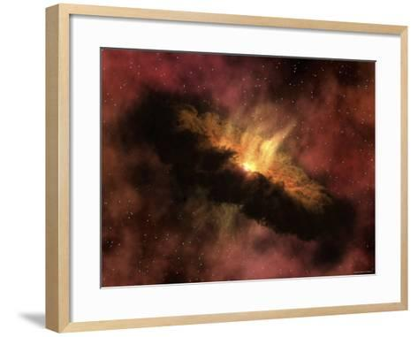 Young Star Surrounded by a Dusty Protoplanetary Disk-Stocktrek Images-Framed Art Print