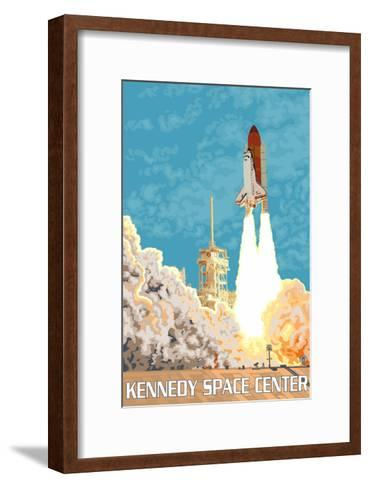 Kennedy Space Center, Cape Canaveral, Florida-Lantern Press-Framed Art Print