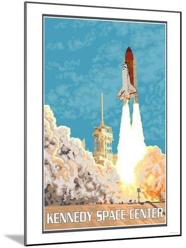 Kennedy Space Center, Cape Canaveral, Florida-Lantern Press-Mounted Art Print