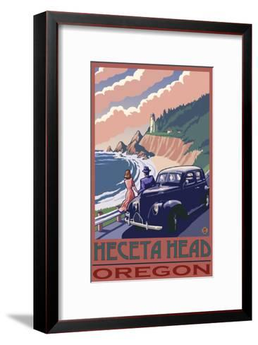 Heceta Head Lighthouse, Oregon-Lantern Press-Framed Art Print