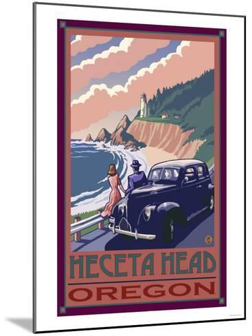 Heceta Head Lighthouse, Oregon-Lantern Press-Mounted Art Print