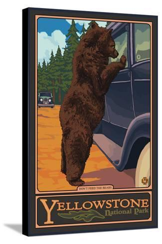 Don't Feed the Bears, Yellowstone National Park, Wyoming-Lantern Press-Stretched Canvas Print