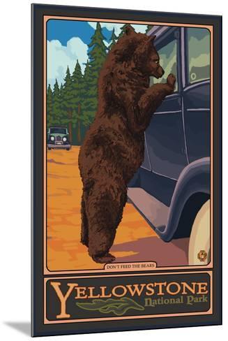 Don't Feed the Bears, Yellowstone National Park, Wyoming-Lantern Press-Mounted Art Print