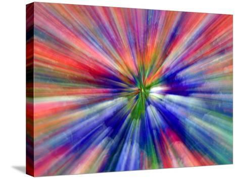 Zoom Abstract of Pansy Flowers-Charles R^ Needle-Stretched Canvas Print