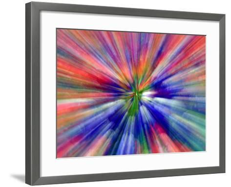 Zoom Abstract of Pansy Flowers-Charles R^ Needle-Framed Art Print