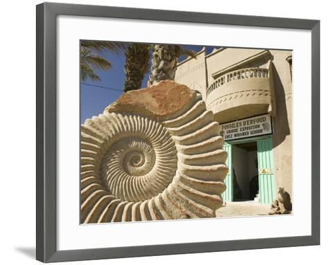 Fossil Shop, Erfoud, Ziz Valley, Morocco-Walter Bibikow-Framed Art Print