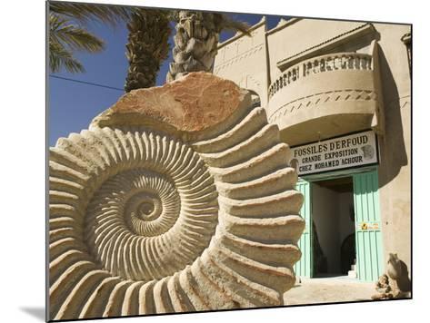 Fossil Shop, Erfoud, Ziz Valley, Morocco-Walter Bibikow-Mounted Photographic Print